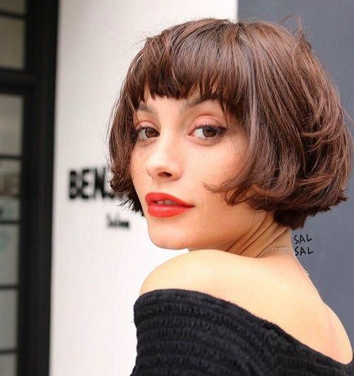 Best Short Layered Bob With Bangs