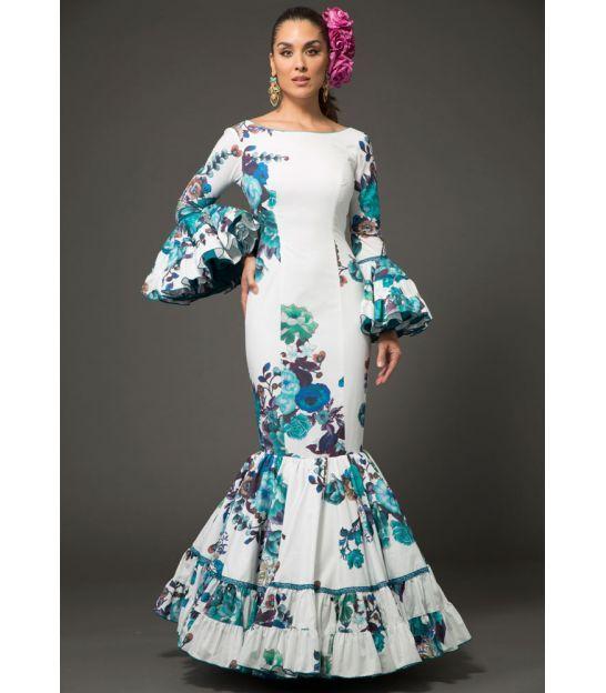 13402ed01 trajes de flamenca 2018 mujer - Aires de Feria - Trajes de flamenca Relente  estampado