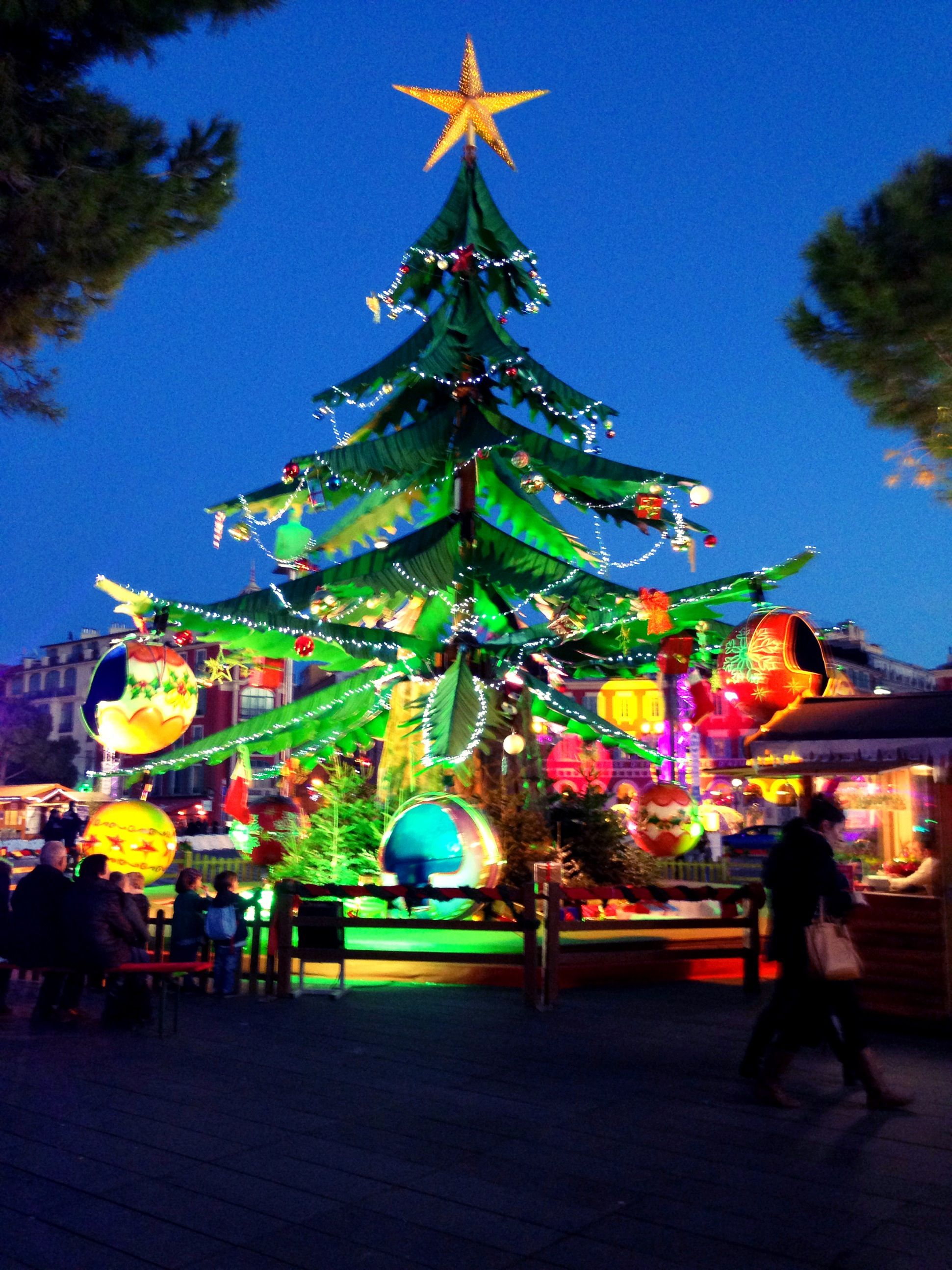 Christmas tree in Nice, France French christmas