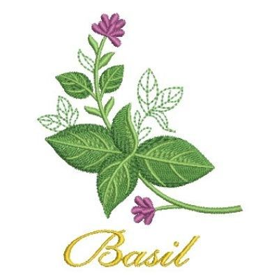 Basil Herb Embroidery Design Herb Embroidery Embroidery Designs