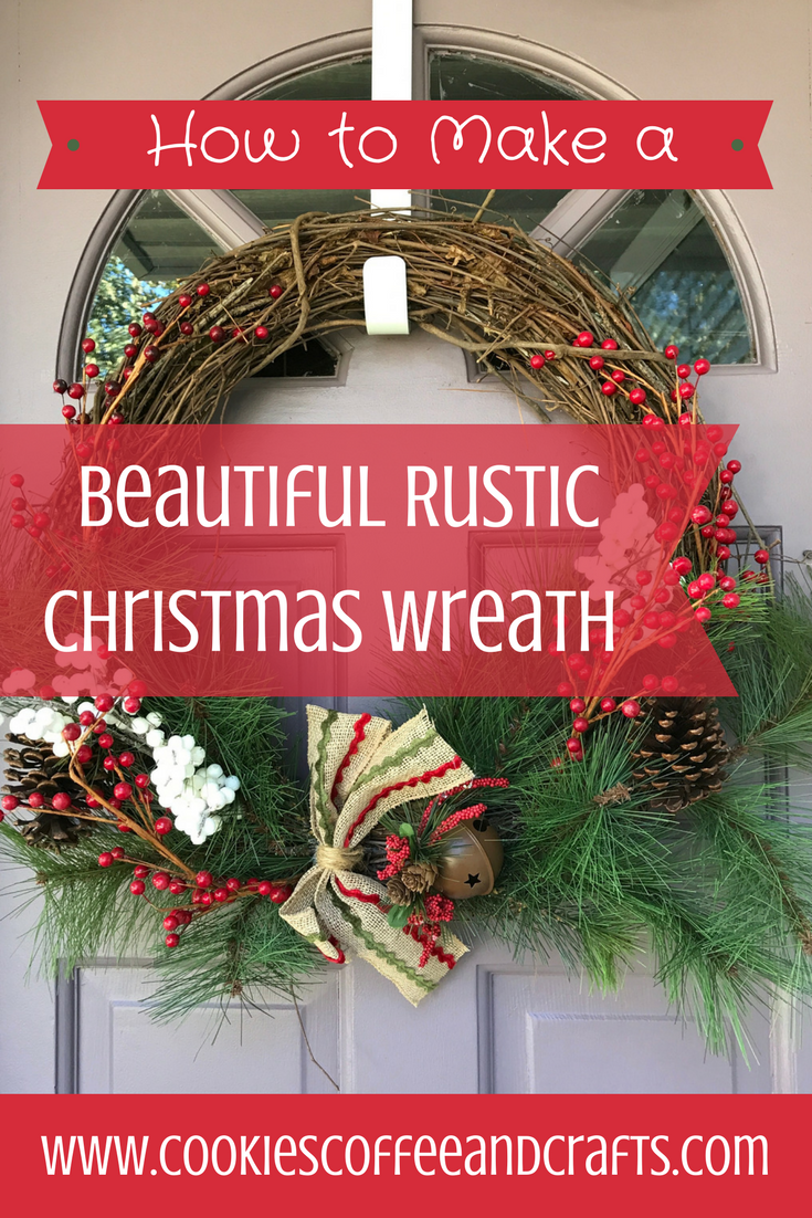 This beautiful rustic Christmas wreath with jingle