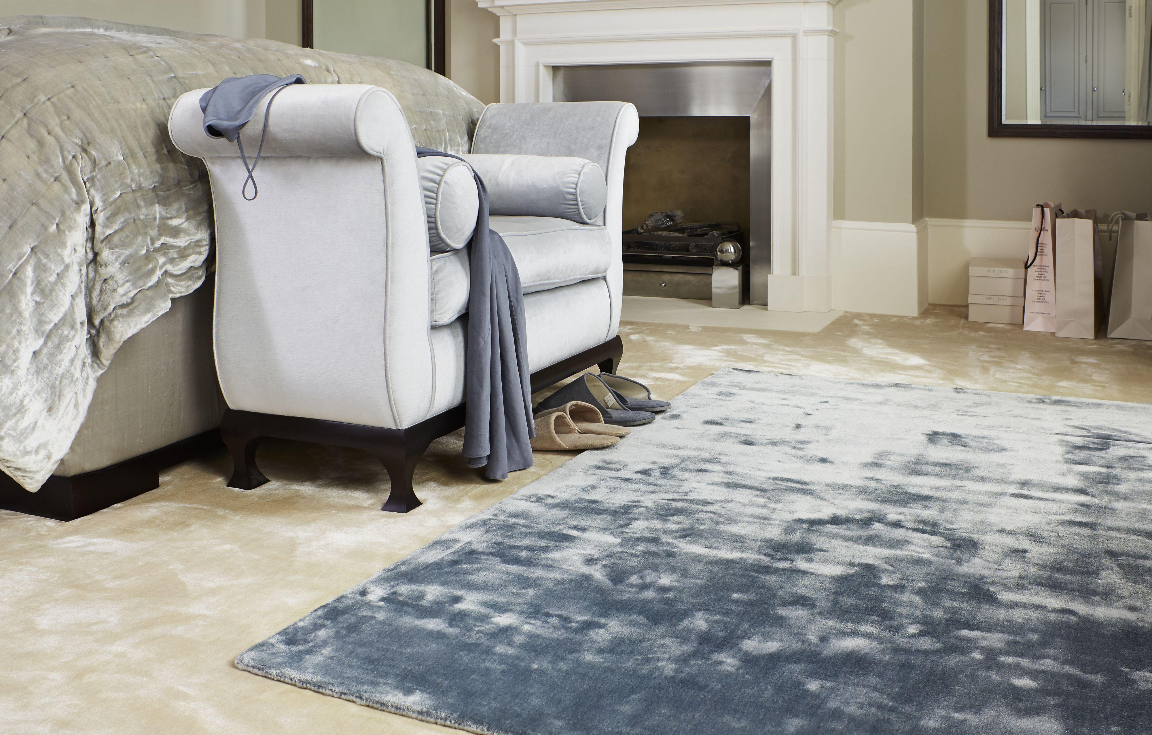 Jacaranda S Simla Atlantic Blue Hand Woven Rug On Jacaranda S Simla Ivory Hand Woven Carpet Rugs On Carpet Rugs Quality Carpets