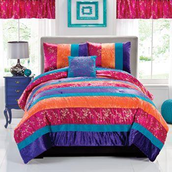 seventeen wild crush bedding coordinates 2 pieces for $101.00 (on