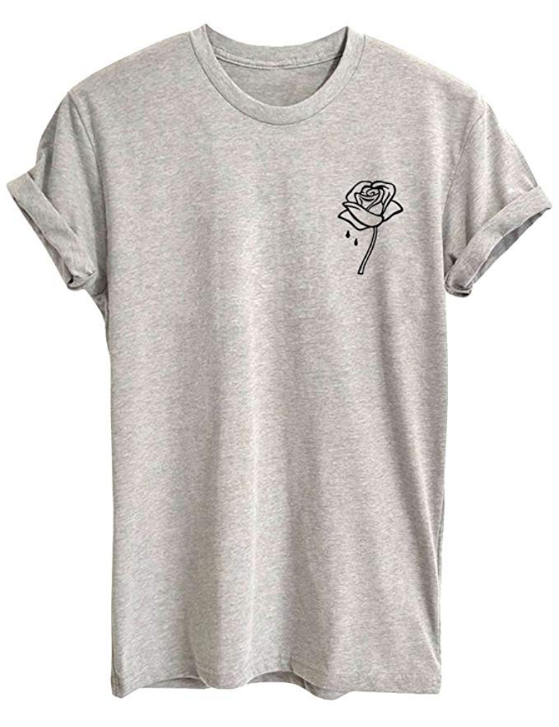 9b8908c43e3 Dripping Rose Women Cute T Shirt Juniors Graphic Tops White Small in ...