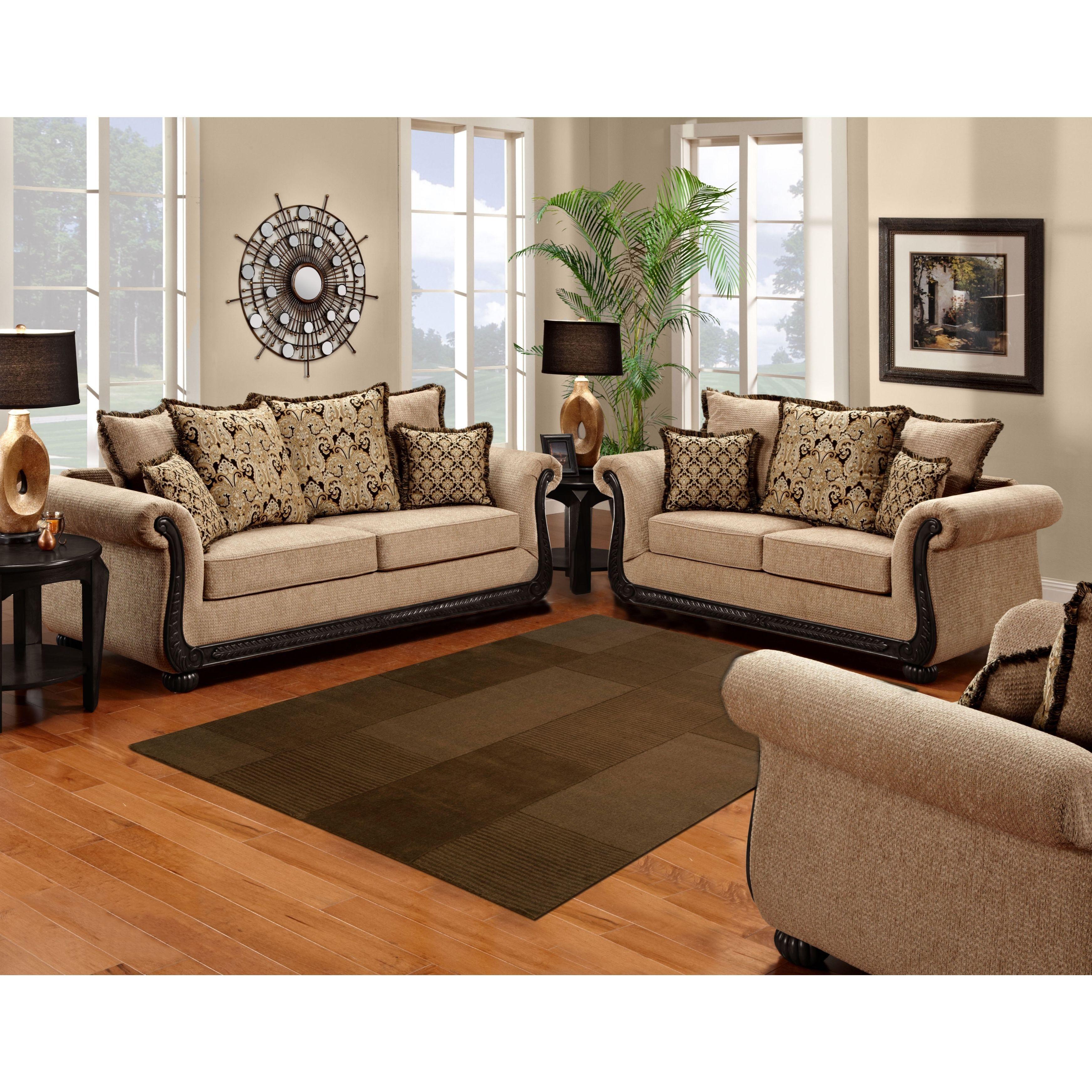 Sofa Trendz Bowen Taupe Brown Microfiber Sofa