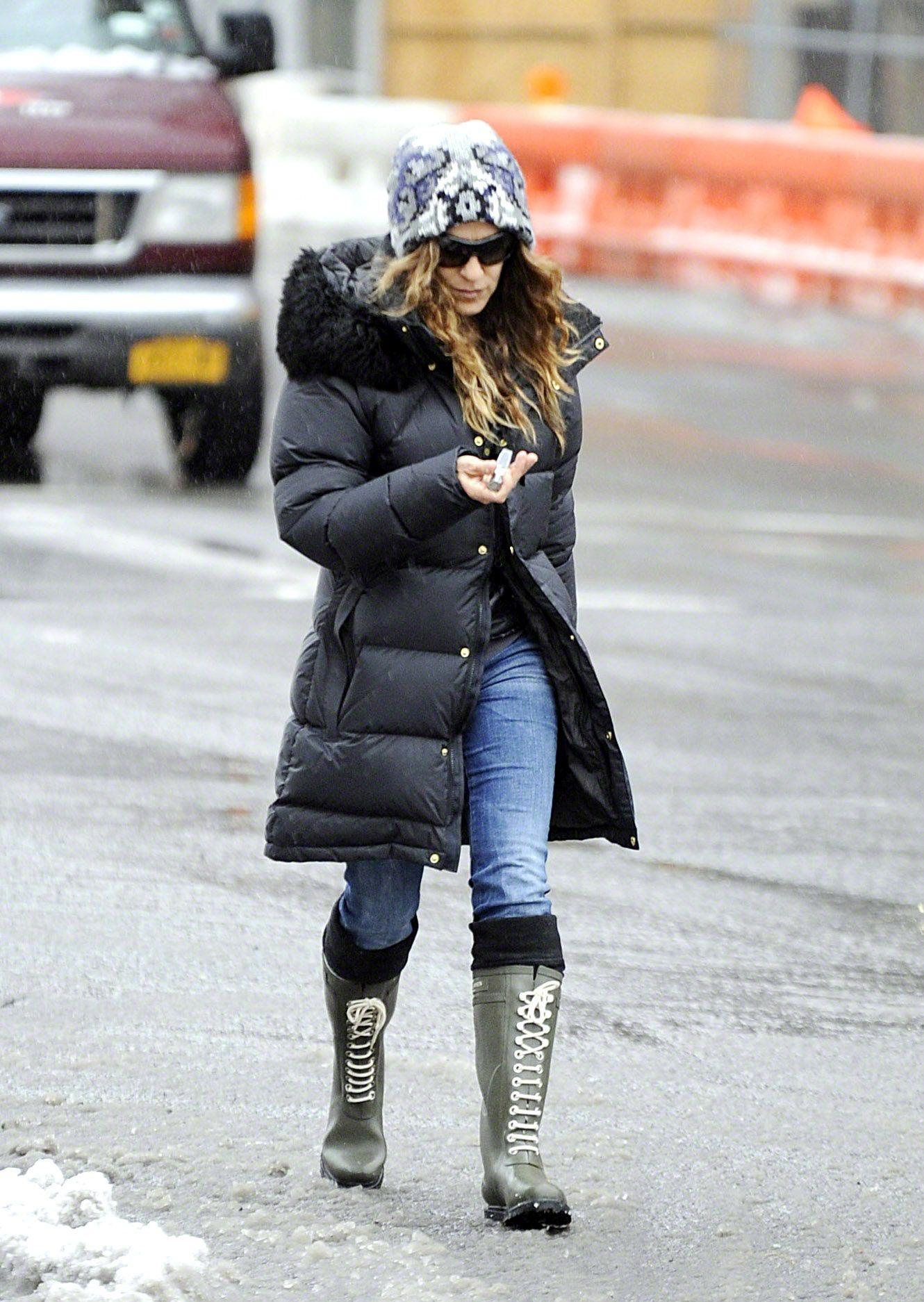 041a737e1e6 Sarah Jessica Parker wearing Ilse Jacobsen Rain boots   rain boots ...