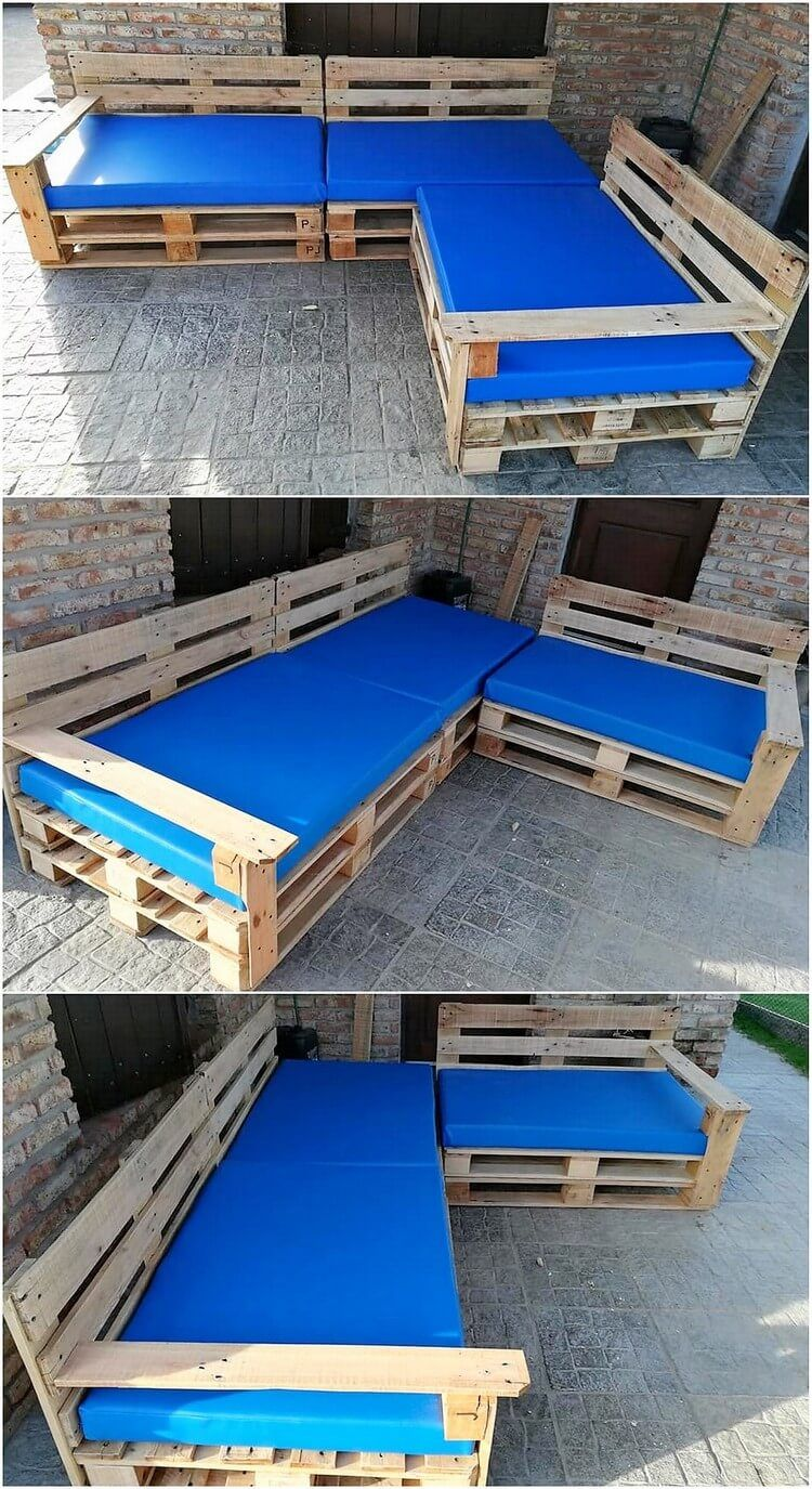 Undoubtedly The Corner Couch Mixed Artwork Designing Always Look So Magical And Charming When It Is Be Pallet Furniture Outdoor Wood Pallets Pallet Furniture