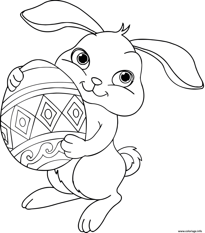 Coloriage Lapin Paques Disney Dessin A Imprimer