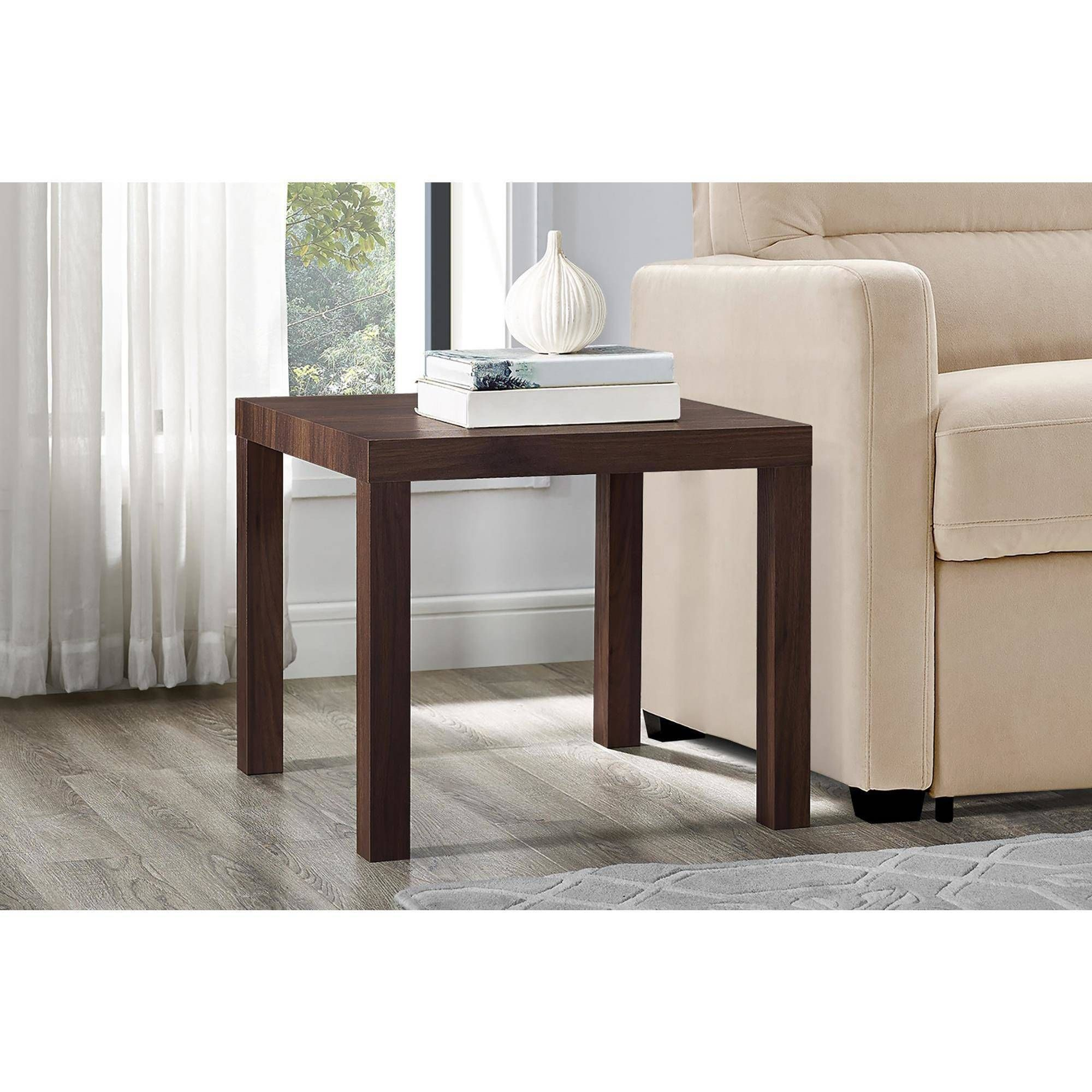 Free 2 Day Shipping On Qualified Orders Over 35 Buy Mainstays Parsons Square End Table Canyon Walnut At Walma In 2020 End Tables Modern End Tables Small Living Room