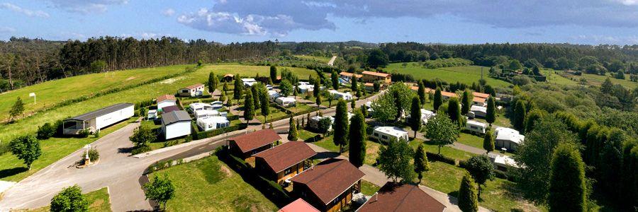 panoramica del camping la rasa Asturias