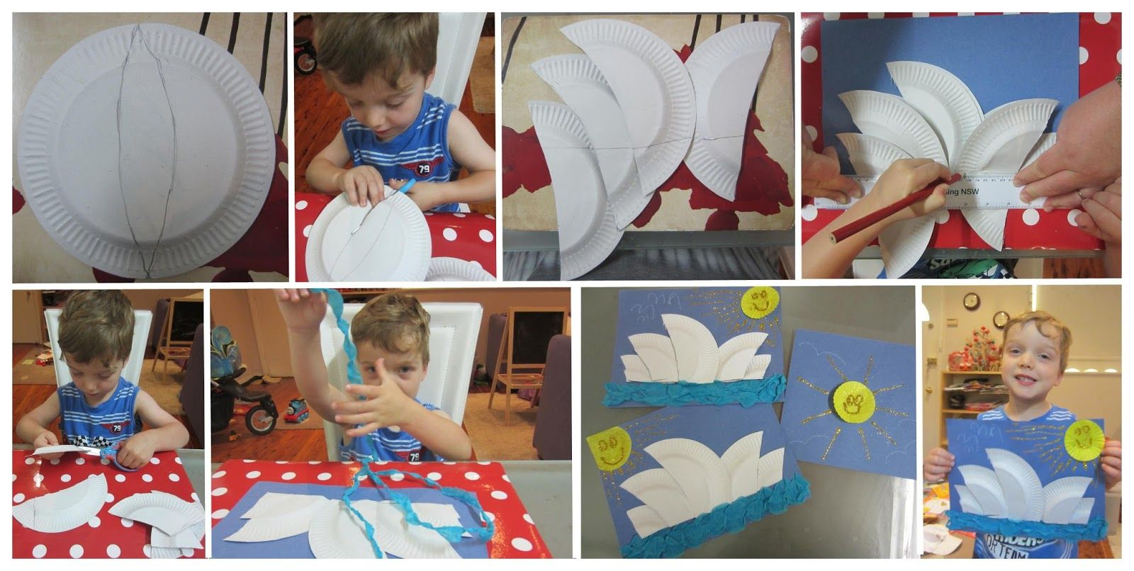 how to make opera house from paper
