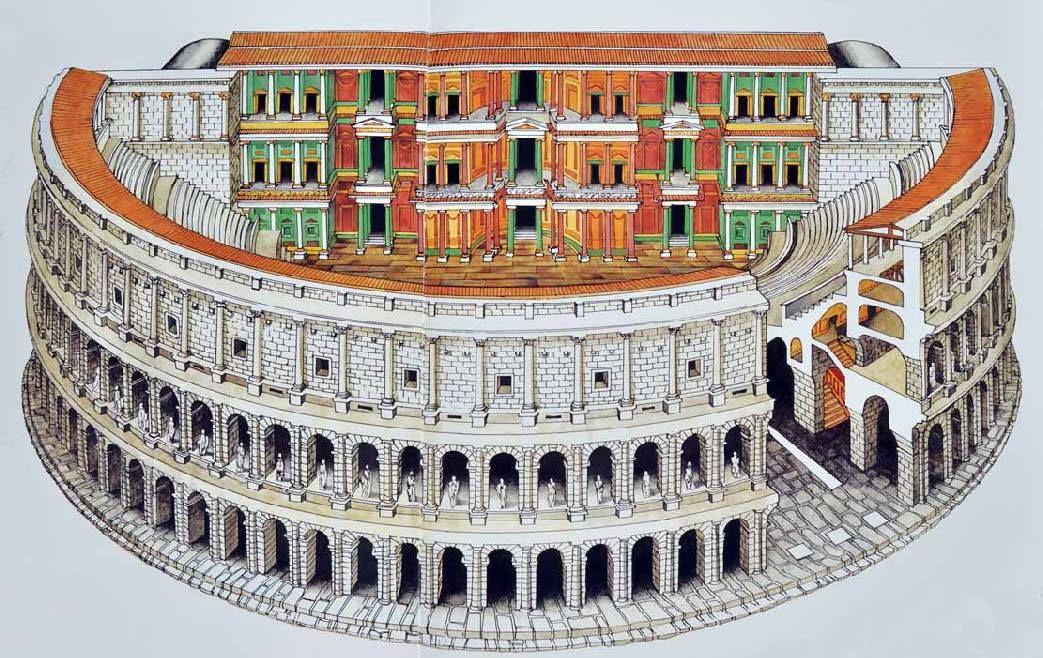Reconstruction of Theatre of Marcellus (Latin: Theatrum ...
