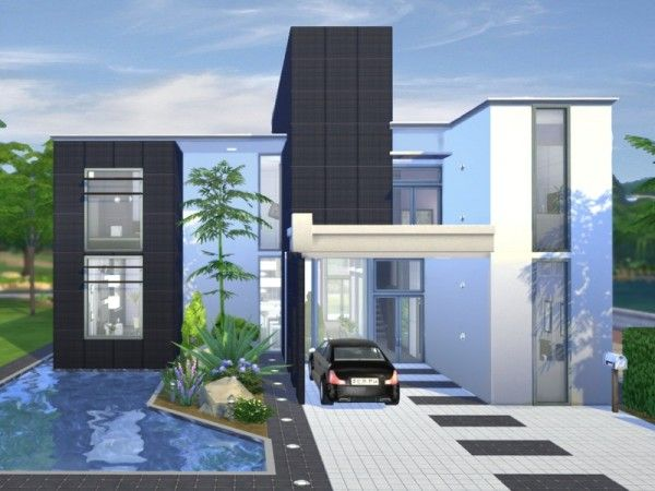 The Sims Resource: Onyx Modern house by Chemy | Sims 4 ...