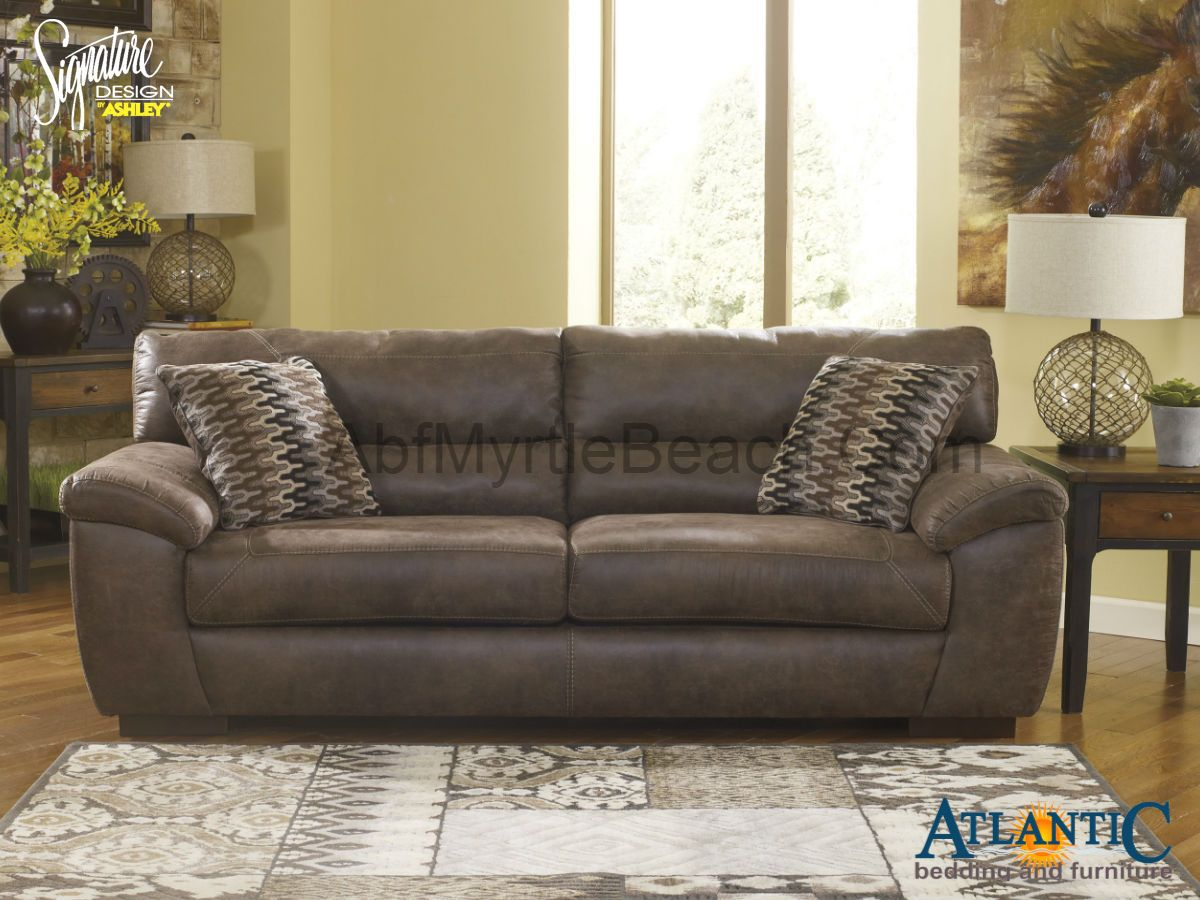 Astounding Sofa Front View Ashley 10200 Pikara Gunsmoke Sofa Short Links Chair Design For Home Short Linksinfo