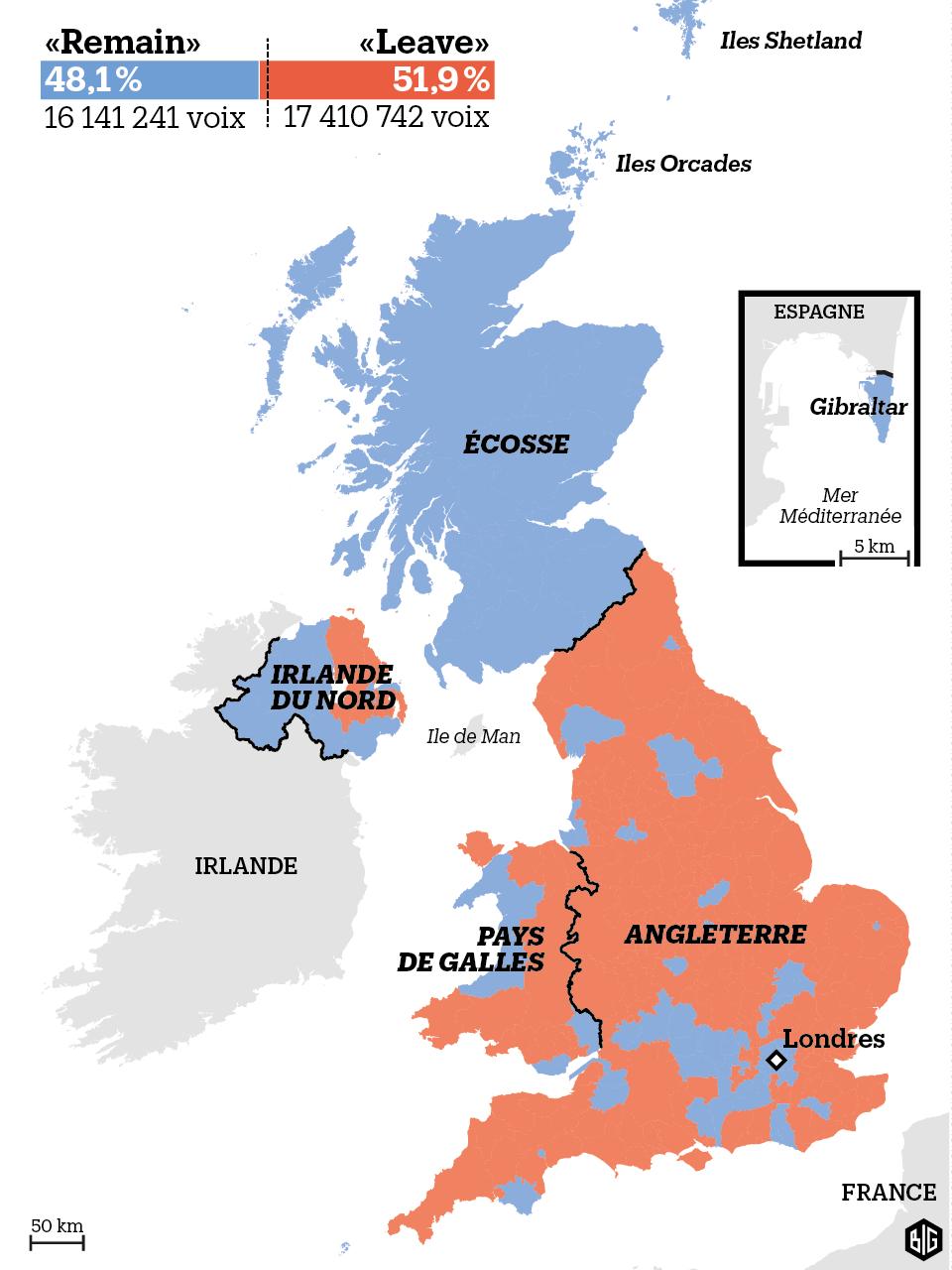 Et si Nord Irlandais, Gallois et Gibraltariens partaient