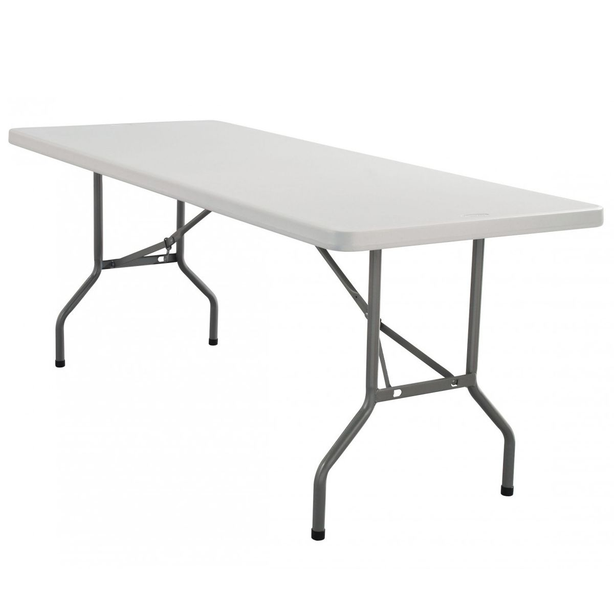 Rhinolite 30 X72 6 Ft Rectangle Plastic Folding Table Solid One Piece Top Locking Steel Frame With Images Folding Table Lightweight Folding Table Long Folding Table