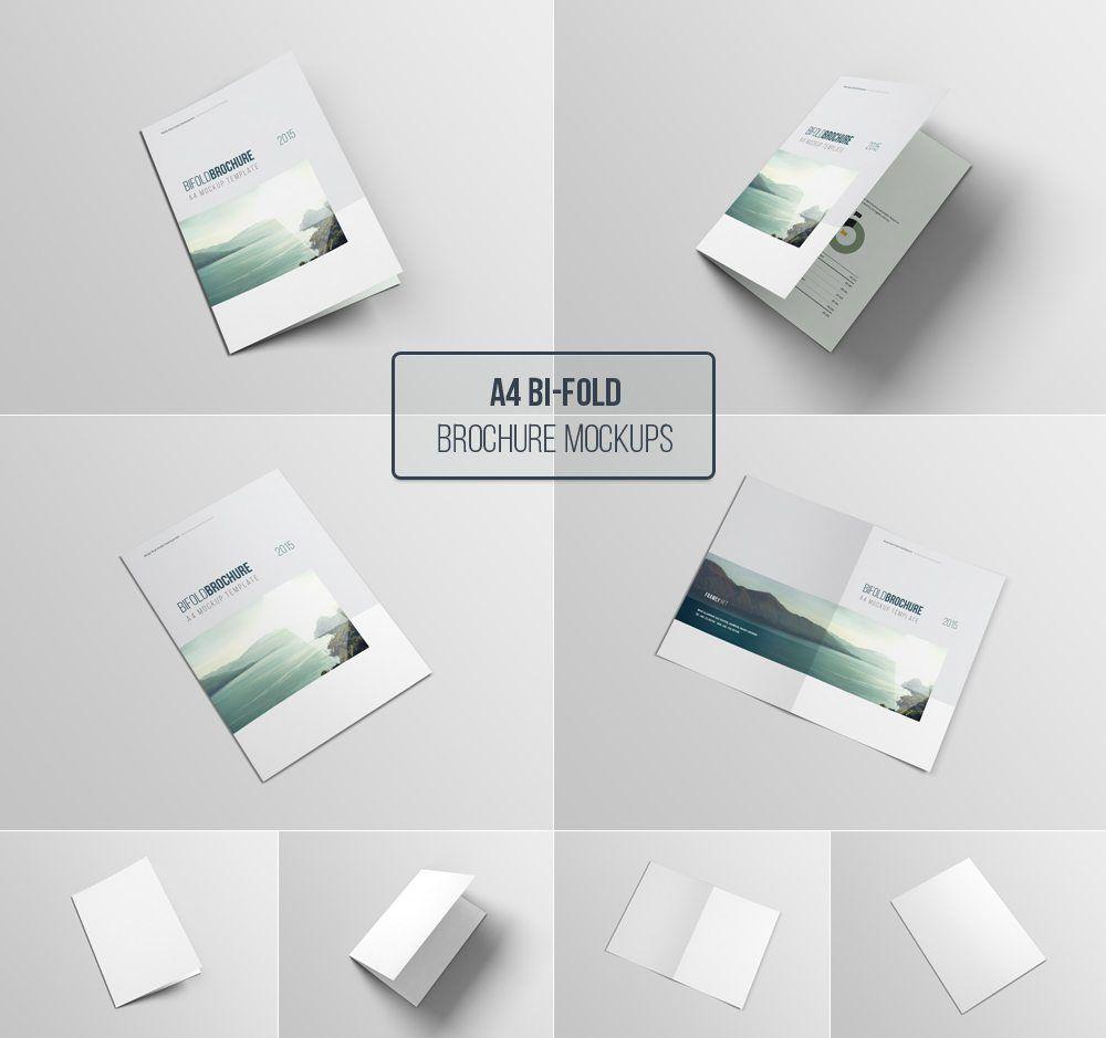 Free A4 Bifold Brochure Mockup Template #mockupcatalog #free ...