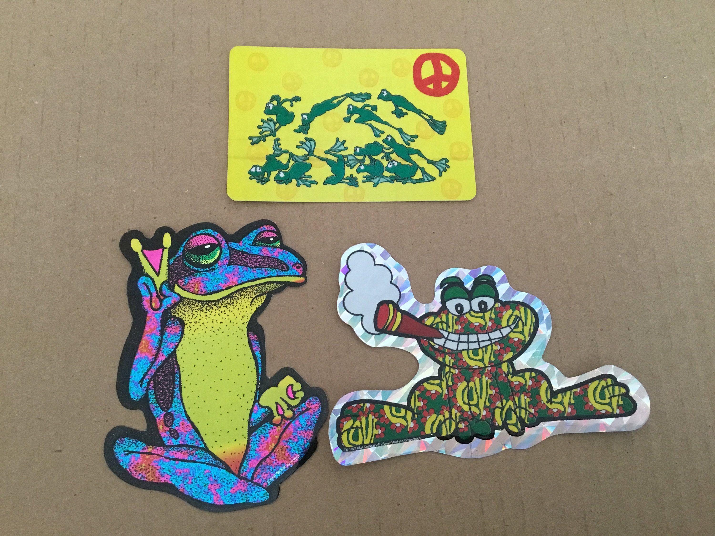 Hippie Frog Deacl Custom Sticker
