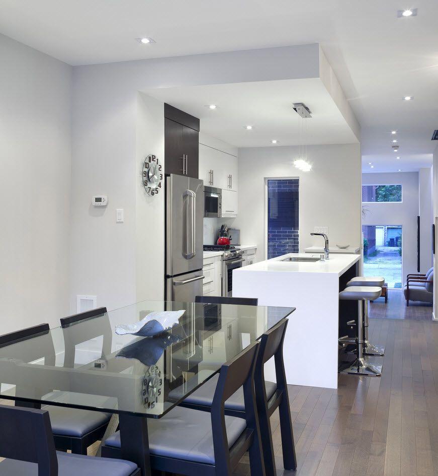 Planos de casa de dos pisos moderna construcci n en for Diseno de interiores de cocinas pequenas modernas