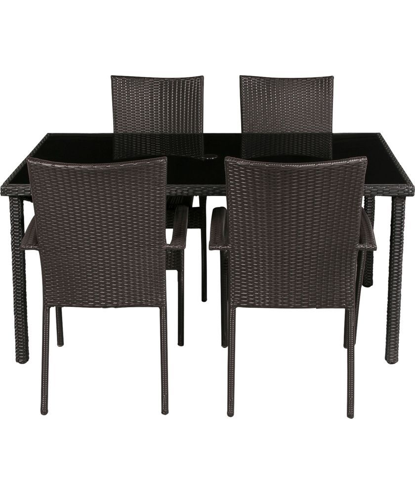 buy lima 4 seater patio furniture dining set black at argos co uk rh pinterest co uk