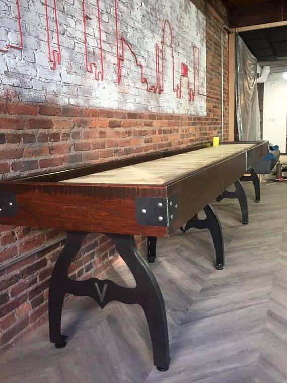 custom shuffleboard table designer shuffleboard game table rh pinterest com