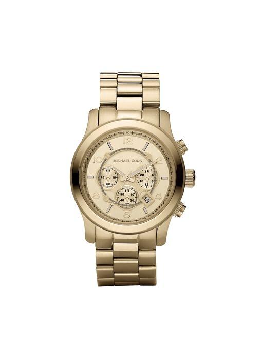 Michael Kors   Golden Oversized Runway Watch ($250) in Golden  Golden Oversized Runway Watch ($250) in Golden