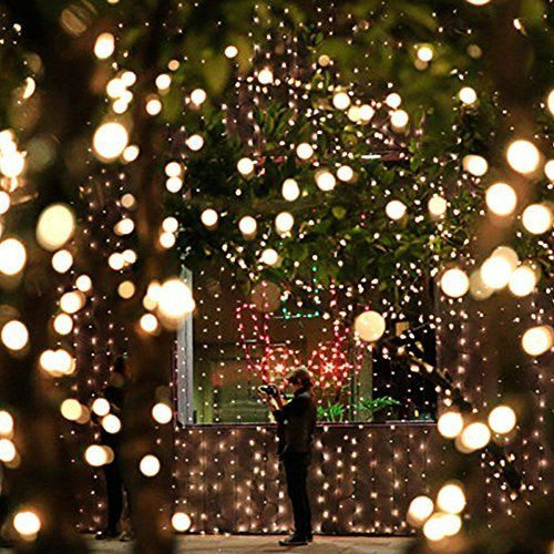 How To String Lights On A Christmas Tree Beauteous Christmas Solar Led Fairy Lightsromte Solar Panel With 2 Meters Decorating Design