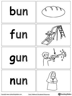 word sort game un words word family worksheets word sorts english phonics kindergarten. Black Bedroom Furniture Sets. Home Design Ideas