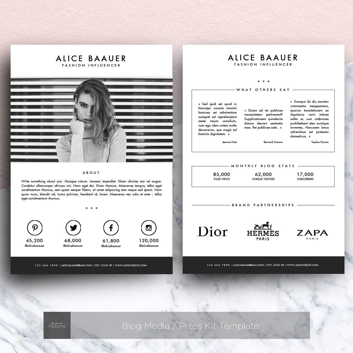 Blog Media / Press Kit Template   Presentations   1
