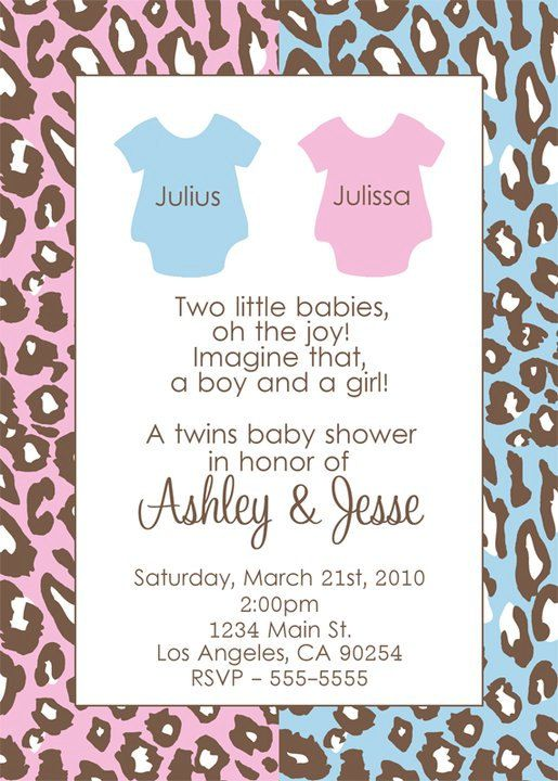 Amazing Twins Baby Shower Invitation