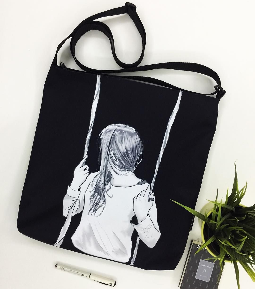 SWINGS. Amazing illustration by @aimeeee02 on Creative United. Grab this illustration on the new sling #totebag here: http://ift.tt/2g3ZQ6V . Also available on #pillow #pouch #slingbag and #mug. . Click link in bio @creativeunited.my to visit Creative United Malaysia's largest art marketplace. Follow us for daily dose of cool artworks by Malaysian indie artists and designers. Showcase and sell your works as products on Creative United without any cost. Join us! . #creativeunitedmy…