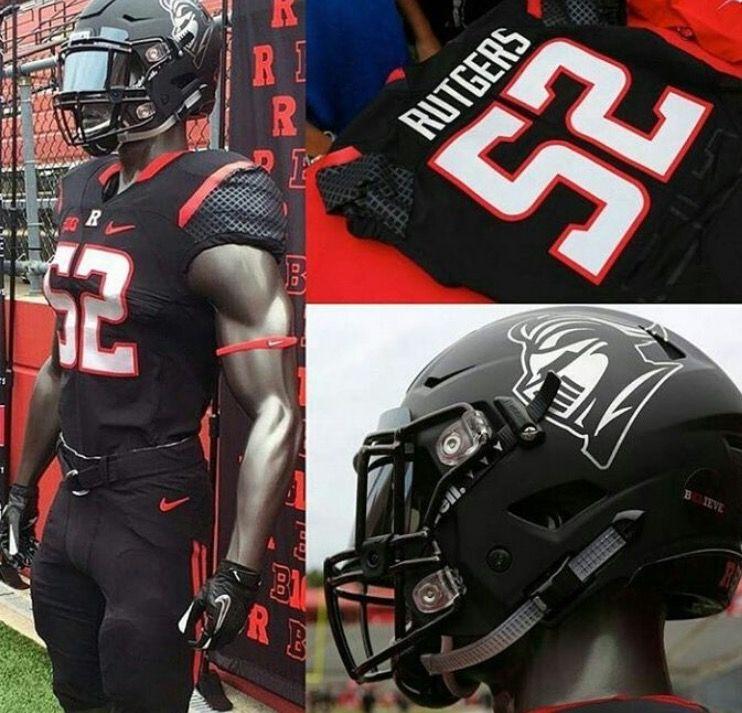 Rutgers University Scarlett Knights Football Uniform College Football Uniforms Football Uniforms Ncaa Football