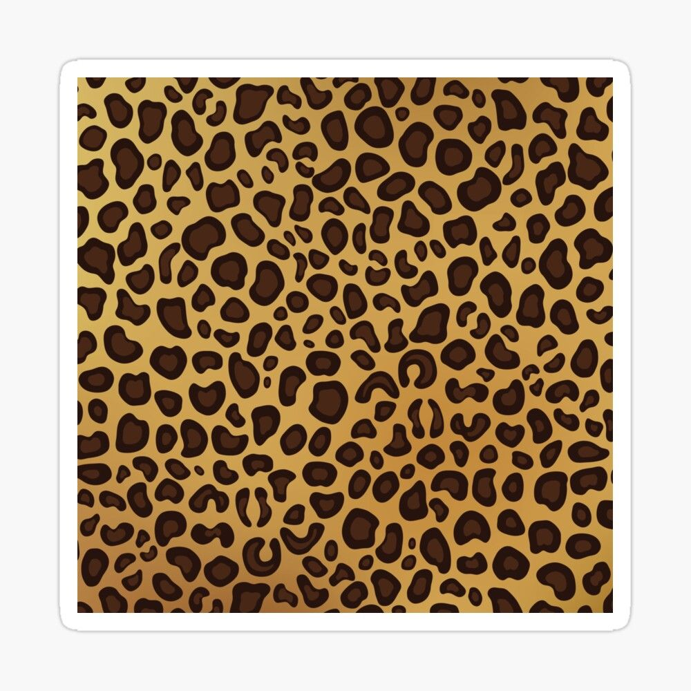 Animal Print With A Leopard Pattern Glossy Sticker By Artdesignforyou Leopard Pattern Coloring Stickers Transparent Stickers [ 1000 x 1000 Pixel ]