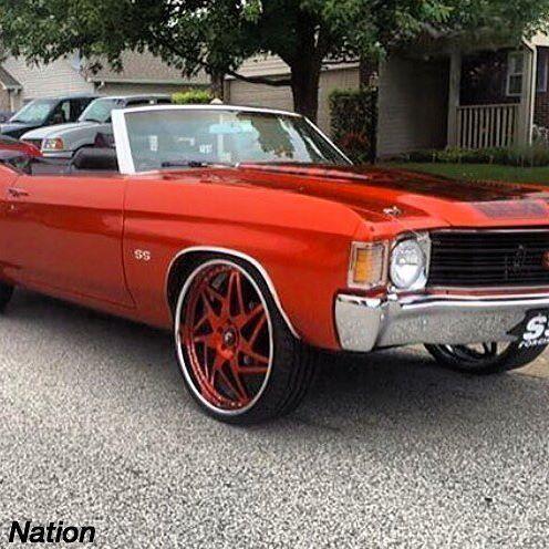 72 chevelle burnt orange and black convertible forgiato wheels rh pinterest com