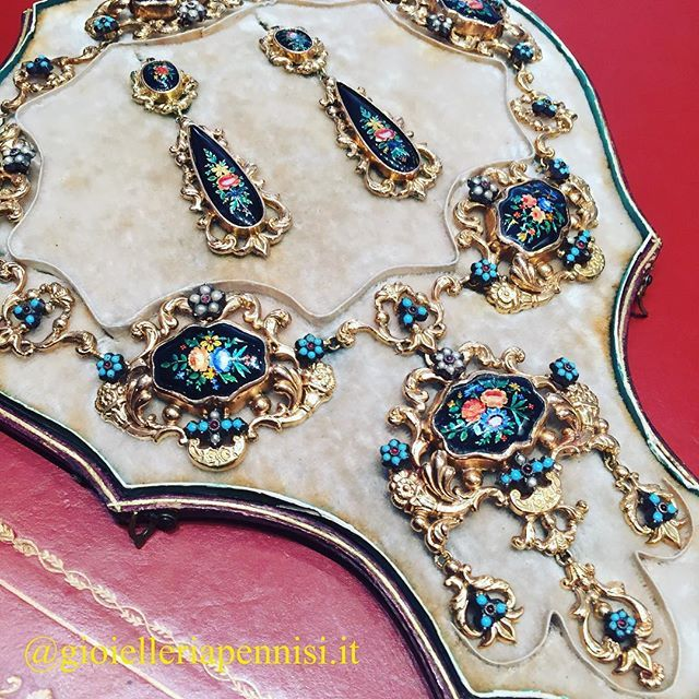 Romantic Gold And Enamel Parure Late 19th Century All I Love