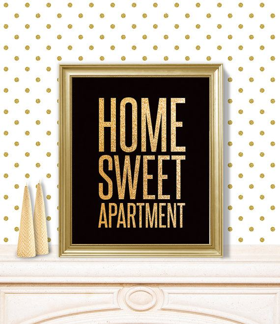 Home Sweet Apartment // Printable Poster PDF // Cute