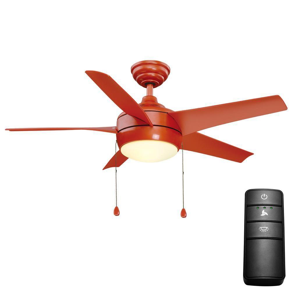 Home Decorators Collection Windward 44 In Led Orange Ceiling Fan
