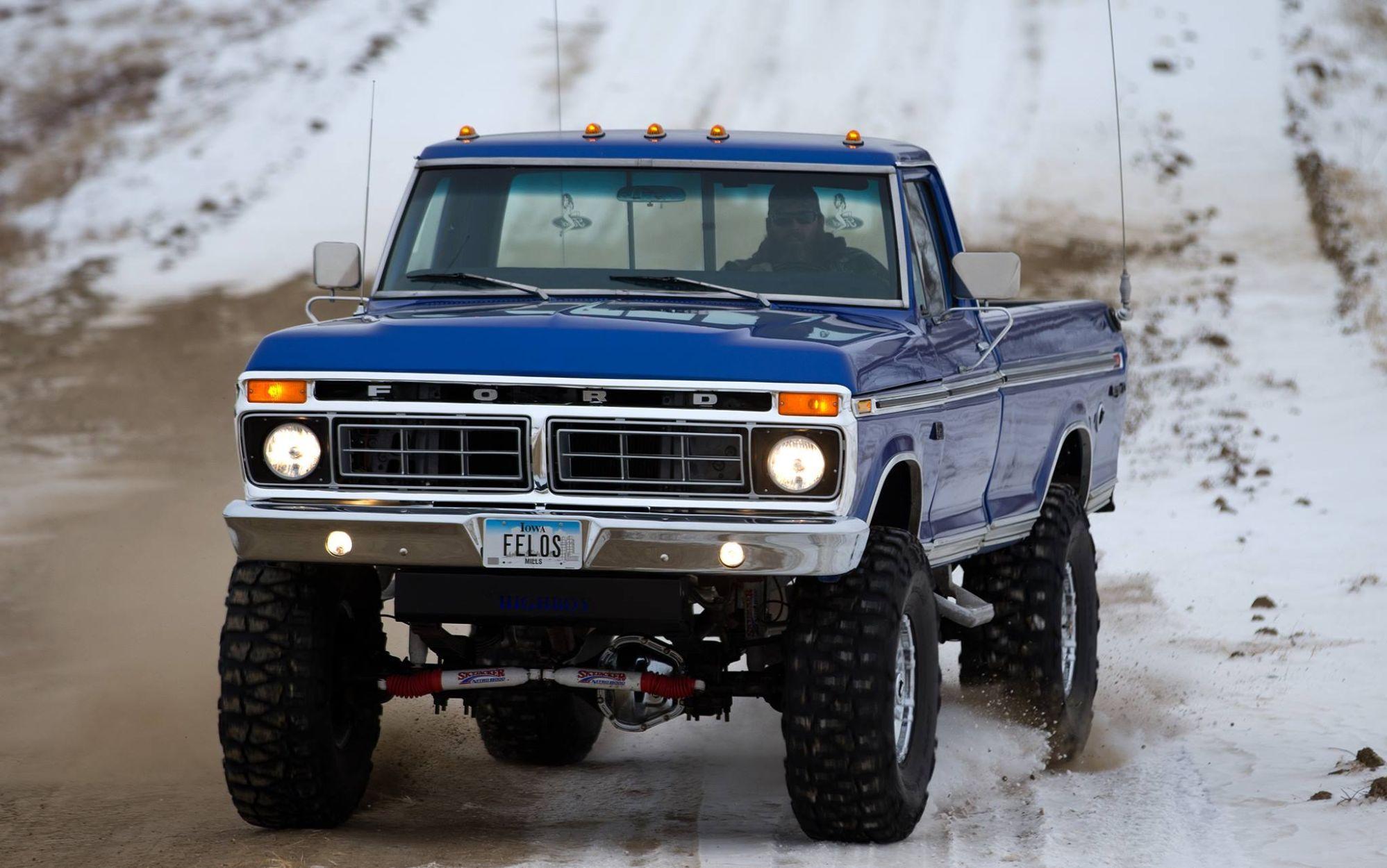 1975 Ford F250 Highboy Restored Custom Wheels 460 Big Block