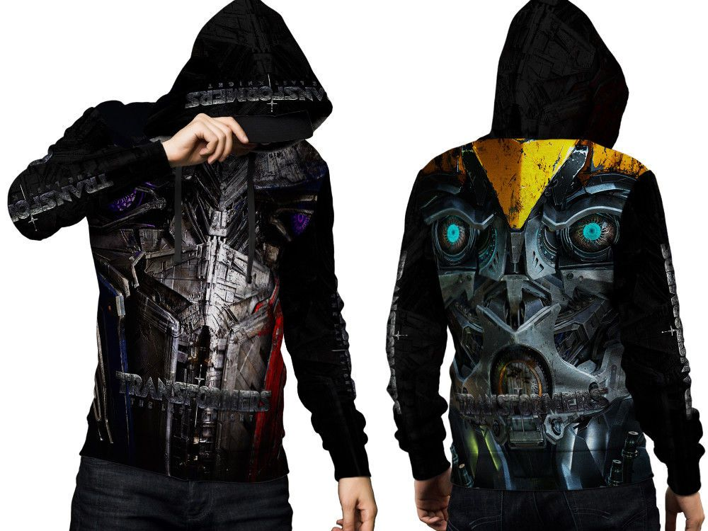 Transformers New Cloth Apparel Hoodie Men/'s Zipper Hoodie Size S to 3XL