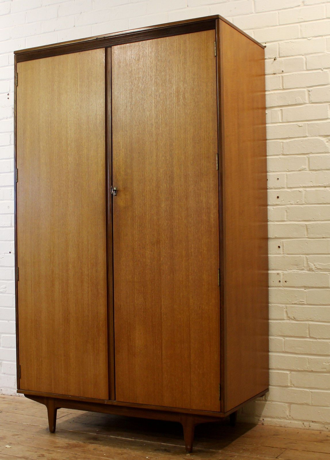 Vintage Striking Teak #gents Wardrobe With #storage U002760s Retro Bedroom  #furniture, View More On The LINK:  Http://www.zeppy.io/product/gb/2/291894967914/