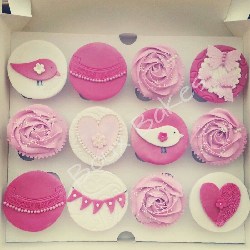 cupcake recipes for bridal shower%0A Engagement cupcakes