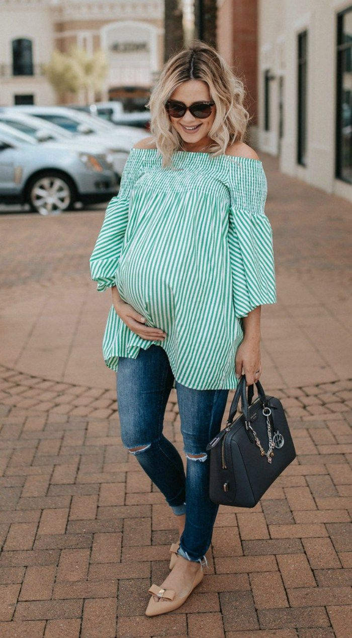 c8974183c27de Houston fashion blogger Uptown with Elly Brown shares her very last  pregnancy outfit along with pregnancy FAQs. Read more now!