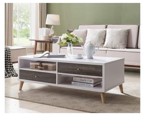 homes inside out weller transitional two drawers coffee table rh pinterest es