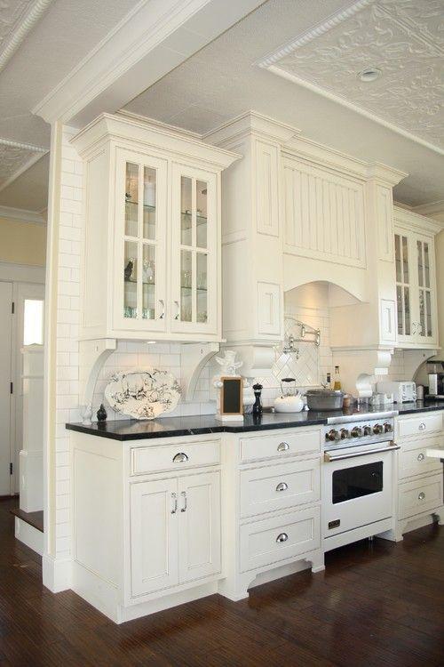 white cabinetry black counter tops dark wood floors gorgeous rh pinterest com