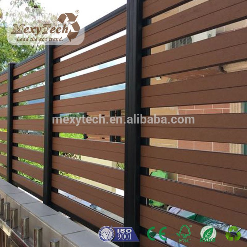 Cheap popular outdoor wood plastic composite garden fence for Outdoor wood screen panels