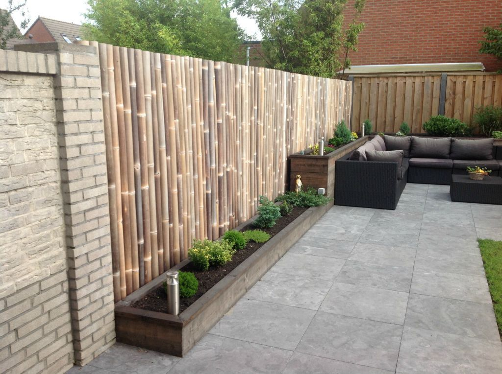 Bamboe schutting loungeset 2017 for Schutting tuin