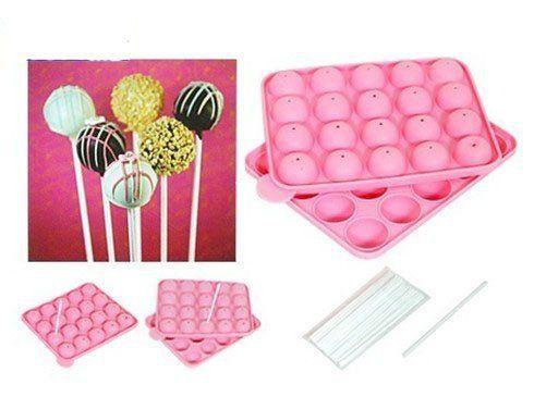 NEW SILICONE NON STICK CAKE POP SET BAKING TRAY MOLD BIRTHDAY PARTY 20 units $17.29
