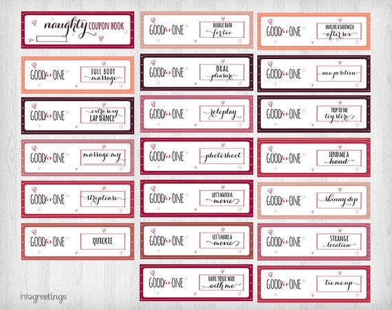 Printable NAUGHTY Coupons for boyfriend husband by InfoGreetings - homemade gift certificate templates