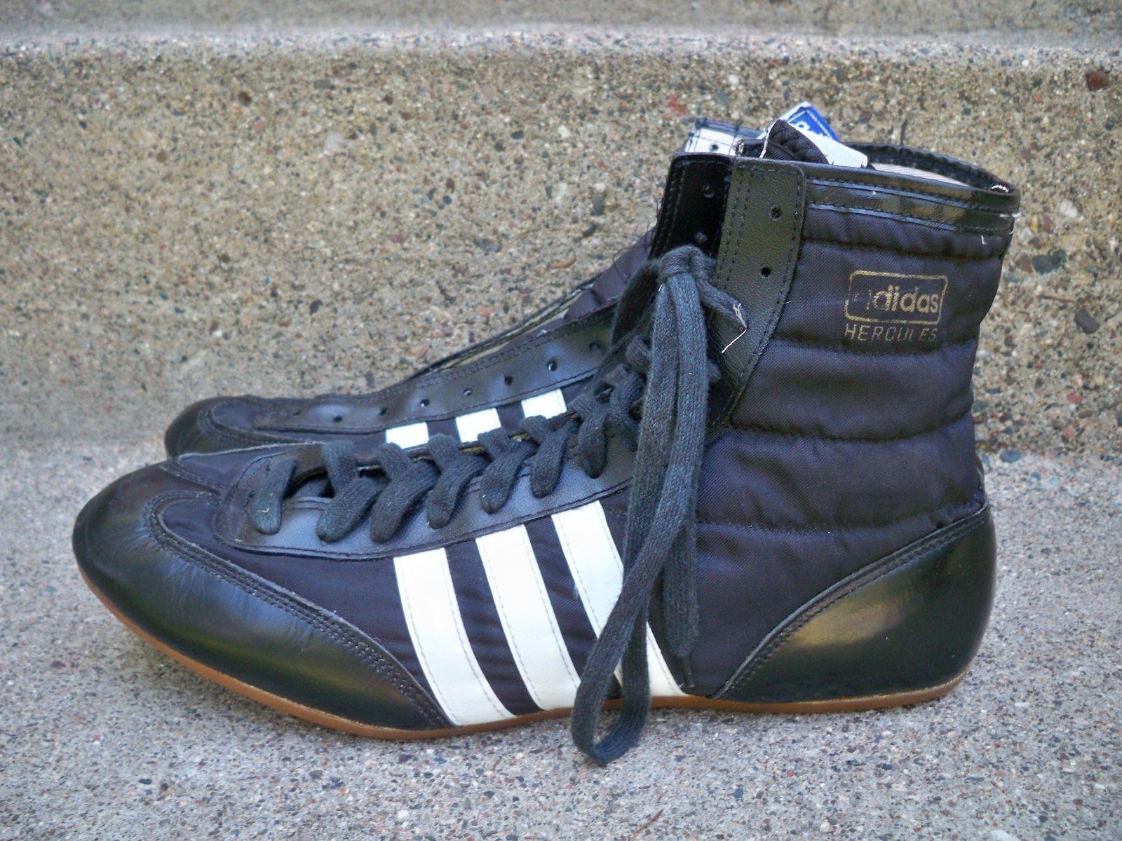 Adidas Hercules wrestling boots.