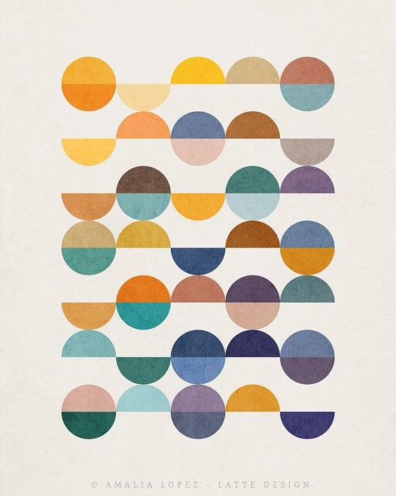 Equal Parts 2. Geometric print geometric art print by LatteDesign